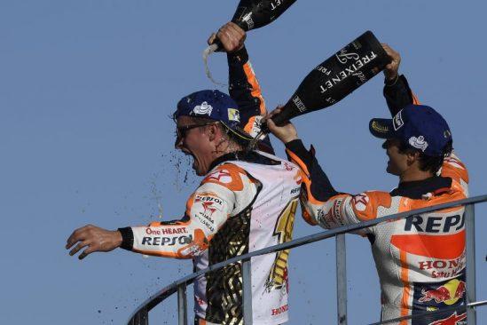 GS YUASA BATTERY IBERIA, patrocinador del equipo HRC, celebra el cuarto título Mundial de Marc Márquez