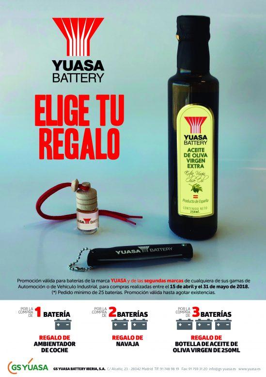 YUASA propone una nueva promoción por la compra de baterías de automoción