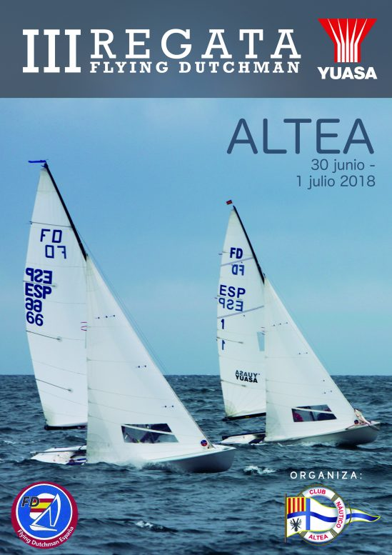 Yuasa Battery  es el patrocinador principal de la tercera  regata Flying Dutchman en Altea