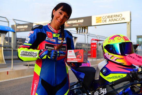 GS YUASA, líder mundial en fabricación de baterías para moto, cierra un acuerdo de patrocinio con María Calero