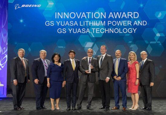 """GS Yuasa galardonado con el premio """"Proveedor Boeing"""" del año por su innovación"""