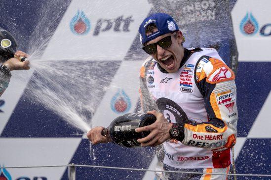 Márquez se lleva el título con una victoria en la última curva