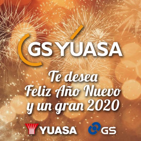 Todo el equipo de GS Yuasa Battery Iberia te desea Feliz Año Nuevo y un 2020 «cargado» de éxitos.